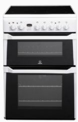 Indesit 60cm Wide Cooker Double Oven ID60C2WS (White)